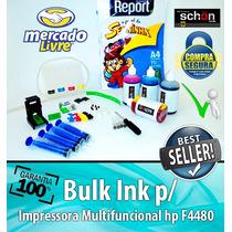 Bulk Ink Para Impressora Hp F4480 + 400ml De Tinta + Brinde!