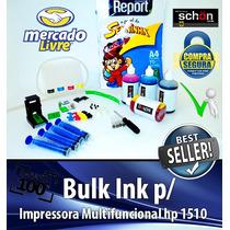 Bulk Ink Para Impressora Hp 1510 + 400ml De Tinta + Brinde!