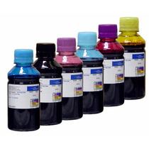 Kit 600 Ml De Tinta Corante Impressoras Epson De 6 Cores
