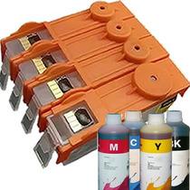 Cartucho Recarregável Deskjet Hp 3520 3522 Com Chip + Tinta