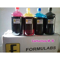 Tinta Corante Formulabs Hp Pro 8100 8600 7110 Kit 4 Litros