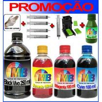Kit Com Snap Fill Para Recarga De Cartuchos Lexmark,hp,canon