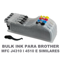Bulk Ink P/ Brother Mfc J4310 J4510 J4110 + Tinta Específica