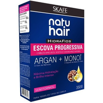 Kit Natu Hair Escova Progressiva Hidrafios 350g