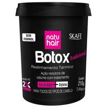Redutor De Volume Skafe Natu Hair Botox Tradicional 210g