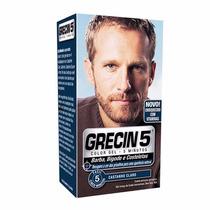 Grecin 5 Barba E Bigode - 05 Aplicações- Cor Castanho Claro