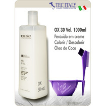 Ox 30 Vol. 1000ml Tec Italy Produto Importado-agua Oxigenada