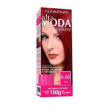 Kit Alta Moda Alfaparf Coloração 6.66 Vermelho Rubi