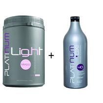 Pó Descolorante Platinum Light + Água Oxigenada Oxi Felithi