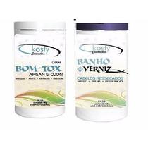 Botox Capilar Argan + Brinde Banho De Verniz Kosty