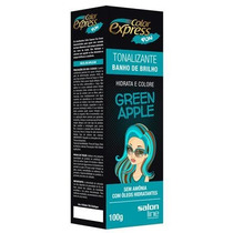 Kit Tonalizante Color Express Fun Salon Line Green Appl 100g