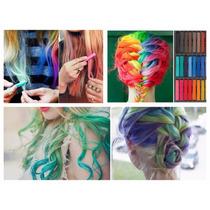 Giz Para Cabelos Hair Chalk Coloração Tinta Cabelo Colorido