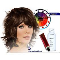 Tinta Castanho Claro Nº5 Designer Color + Ox 120ml Tec Italy