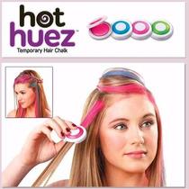 Tinta Giz Importada Hot Huez Kit Completo C 4 Cores Cabelos