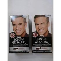Grecin Tons De Grisalho Shampoo Tonalizante Com 2 Unidades