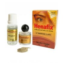 Henna Profissional Para Sobrancelhas Cor Preto 1.0 Henafix