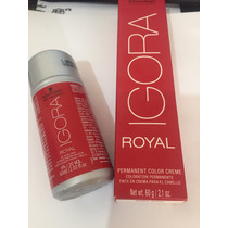 Tinta Igora Royal Schwarzkopf 60g+agua Oxigenada Volume 20