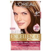 Coloração Loréal Imédia Excellence 6.34 Chocolate