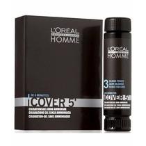 Loreal Homme Cover 5 Tintura Castanho Escuro Nº3 - 3x50ml