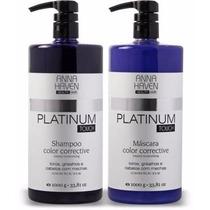 Shampoo E Máscara Anna Haven Platinum Profissional