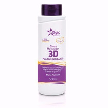 Magic Color Gloss 3d Platinum Branco 550ml
