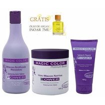 Kit Magic Color Power Desamarelador Grande +óleo De Argan