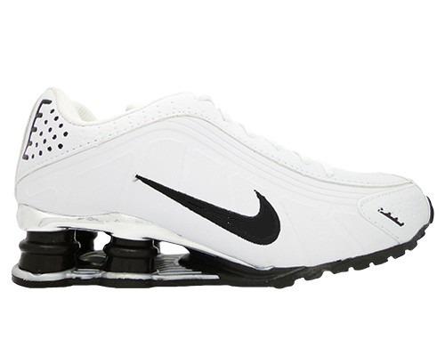 Nike Shox R4 Preto Com Cinza