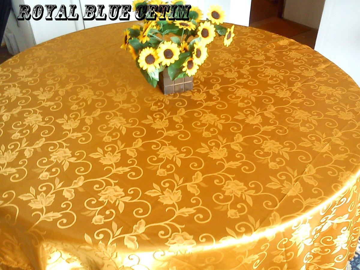 Toalha De Mesa Em Cetim Jacquard Dourado 1 40x2 00m R$ 59 99 no  #BE900D 1200x900