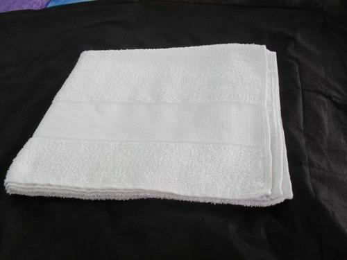 Toalha donna salão de beleza branca rosto 43x65cm c 12 pçs