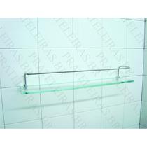Porta Shampoo Prateleira De Vidro 40x10 Incolor