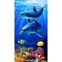 Toalha De Praia 70cm X 1,50m Golfinhos