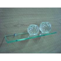 Prateleira De Vidro 40x12 Vidro Incolor Lapidado 10mm