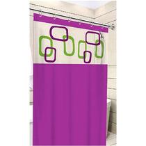 Cortina Para Banheiro Box Roxo 1,40m X 2,00m - Tecido Pvc