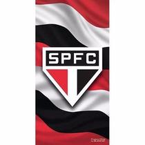 Toalha De Time Futebol Aveludada Oficial São Paulo