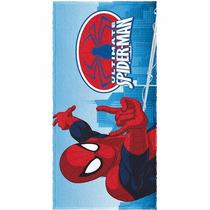 Toalha De Banho Infantil Felpuda Homem Aranha Spider Man