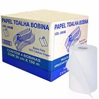 Papel Toalha Em Bobina 20cmx100mts Renova Caixa C/ 4