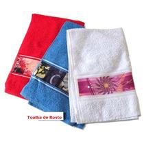 Toalha De Rosto Personalizada Do Seu Jeito 45x75 Cm