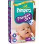 168 Fraldas Pampers Premium Care Mega Tamanho P - 3 Pcts.