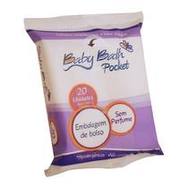 5 Lenços Umedecidos Sem Álcool Baby Bath Pocket 100 Folhas