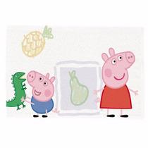 Toalha Peppa Pig Lancheira Toalinha De Mão Rosto Infantil