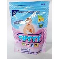 Refil Lenço / Toalha Umedecida Tutty Baby Com 75 Unidades