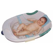 Rede Proteção Para Banho Banheira Seguro Bebê Neném Azul