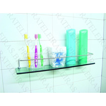 Porta Shampoo Prateleira De Vidro 50x10 Verde