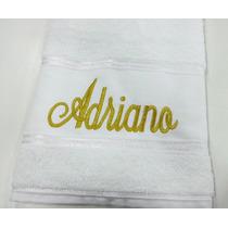 Toalha De Banho Personalizada Com O Nome Bordado