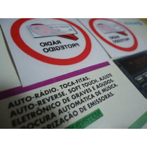 Adesivo Som Radio Protegido Gol Voyage Parati 93/95