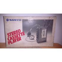 Raro Walkman Sanyo M4440 Made In Japan+caixa+manual+fita...