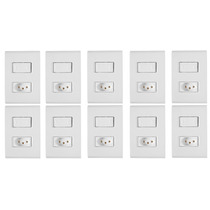10 Conjunto Tramontina Liz 2 Interruptores Simples Ou Tomada