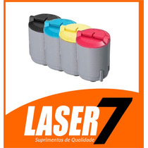 Kit 4 Toner Para Samsung Clp 300 | Clx 2160n Cmyk Compativel