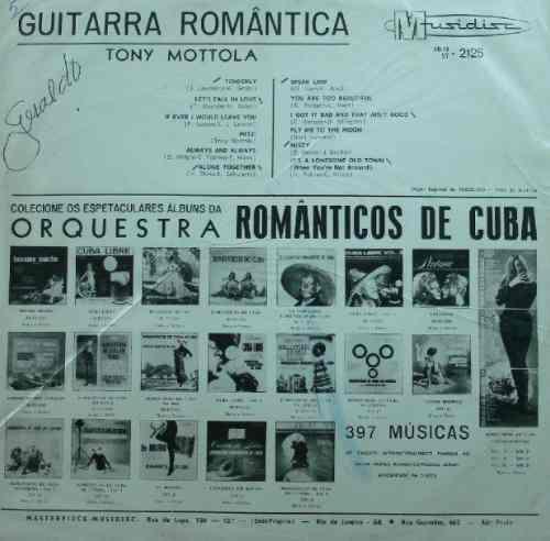 Tony Mottola Guitarra Romântica - Lp Musidisc Hi-fi 2125