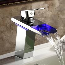 Torneira Para Banheiro De Metal Com Cascata Led Monocomando